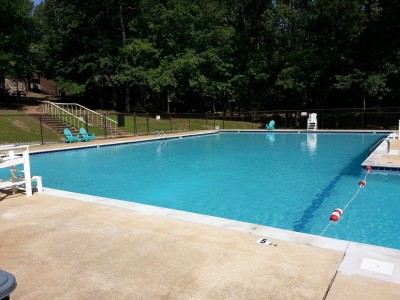 Remodeled concrete pool at 4-H Center in Columbiana, Al