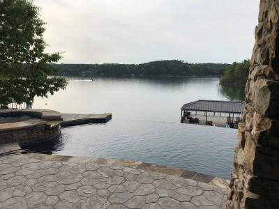 Gunite Pool With An Infinity Edge at Smith Lake, Al