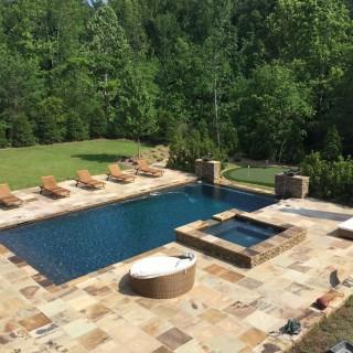 Beautiful gunite pool in Birmingham, Al