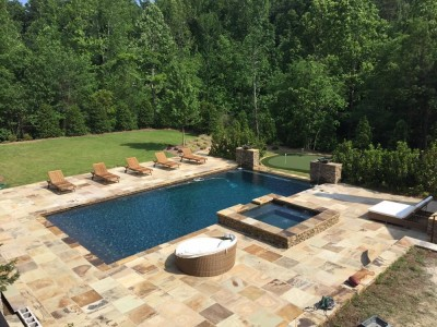 Beautiful gunite pool in Birmingham, Al