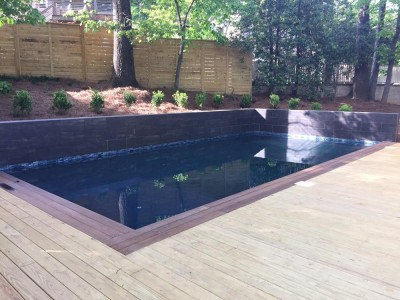 Modern looking swimming pool built in Hoover, Al